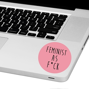 Feminist AFLaptop Trackpad Sticker 3
