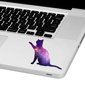 Galaxy Kitty Laptop Trackpad Sticker 3