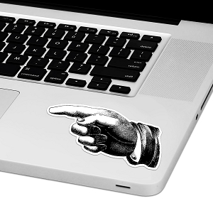 Pointing Finger Laptop Trackpad Sticker 2