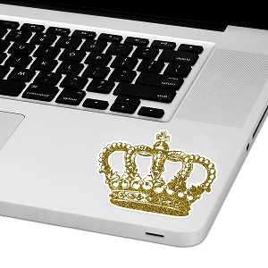 Gold Crown Laptop Trackpad Sticker 3
