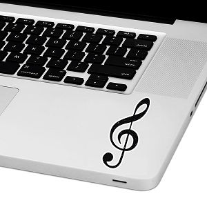 Treble Clef Laptop Trackpad Sticker 3