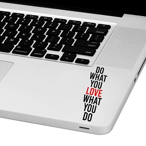 Do What You Love Laptop Trackpad Sticker 3