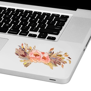 Floral Arrangement Laptop Trackpad Sticker 2