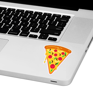 Pizza Slice Laptop Trackpad Sticker 3