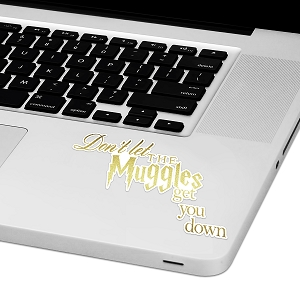 Don't Let The Muggles Get You Down Laptop Trackpad Sticker 2.5