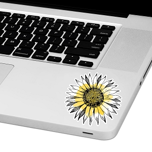 Watercolor Sunflower Laptop Trackpad Sticker 3