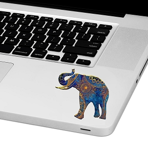 Mandala Elephant Laptop Trackpad Sticker 3