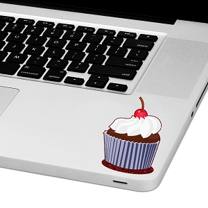 Glitter Cupcake Laptop Trackpad Sticker 3