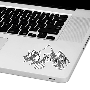 Let's Get High Laptop Trackpad Sticker 2