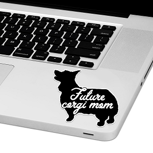 Future Corgi Mom Laptop Trackpad Sticker 3
