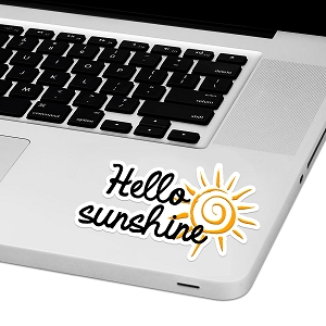 Hello Sunshine Laptop Trackpad Sticker 2.5