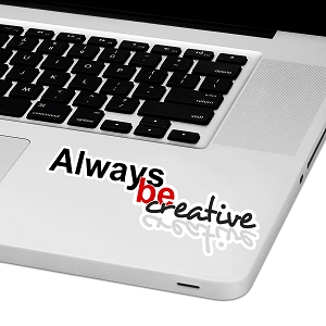 Always Be Creative Laptop Trackpad Sticker 1.5