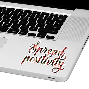 Spread Positivity Laptop Trackpad Sticker 3