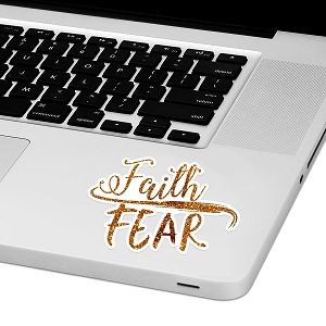 Faith Over Fear Laptop Trackpad Sticker 3