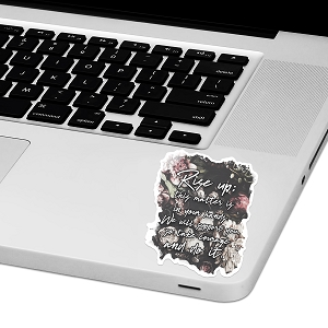 Ezra 10:4 Bible Verse Laptop Trackpad Sticker 4