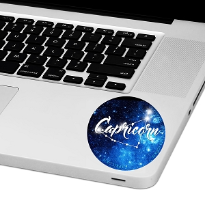Capricorn Zodiac Sign Laptop Trackpad Sticker 3