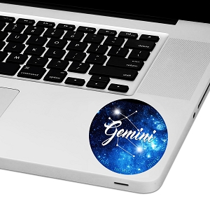 Gemini Zodiac Sign Laptop Trackpad Sticker 3