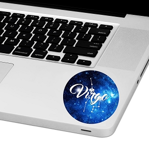 Virgo Zodiac Sign Laptop Trackpad Sticker 3
