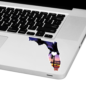 Florida Love Laptop Trackpad Sticker 3