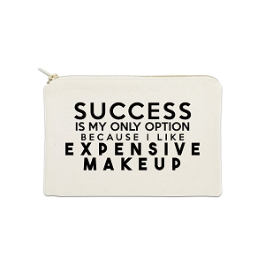 Success Is My Only Option 12 oz Cosmetic Makeup Cotton Canvas Bag