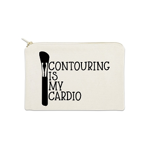 Contouring Is My Cardio 12 oz Cosmetic Makeup Cotton Canvas Bag
