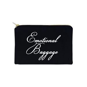 Emotional Baggage 12 oz Cosmetic Makeup Cotton Canvas Bag