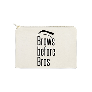 Brows Before Bros 12 oz Cosmetic Makeup Cotton Canvas Bag