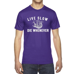 Live Slow Die Whenever Men's Crew Neck Cotton T-Shirt