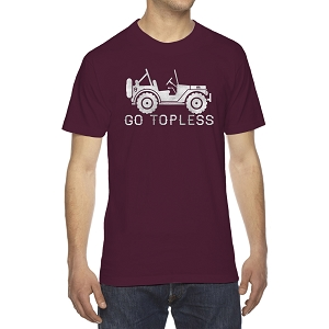 Go Topless Off Roading Vehicle Men's Crew Neck Cotton T-Shirt