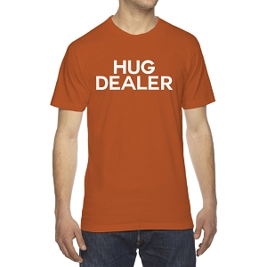 Hug Dealer Men's Crew Neck Cotton T-Shirt