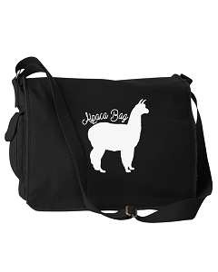 Funny Aplaca Bag Pack Pun Black Canvas Messenger Bag
