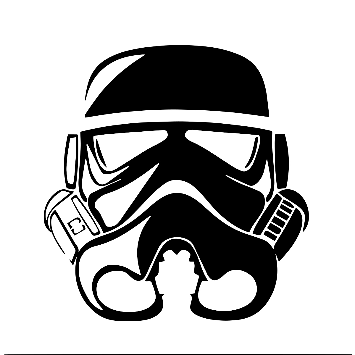 Storm Trooper Helmet Auto Car Racing Motorcycle Helmet Decal