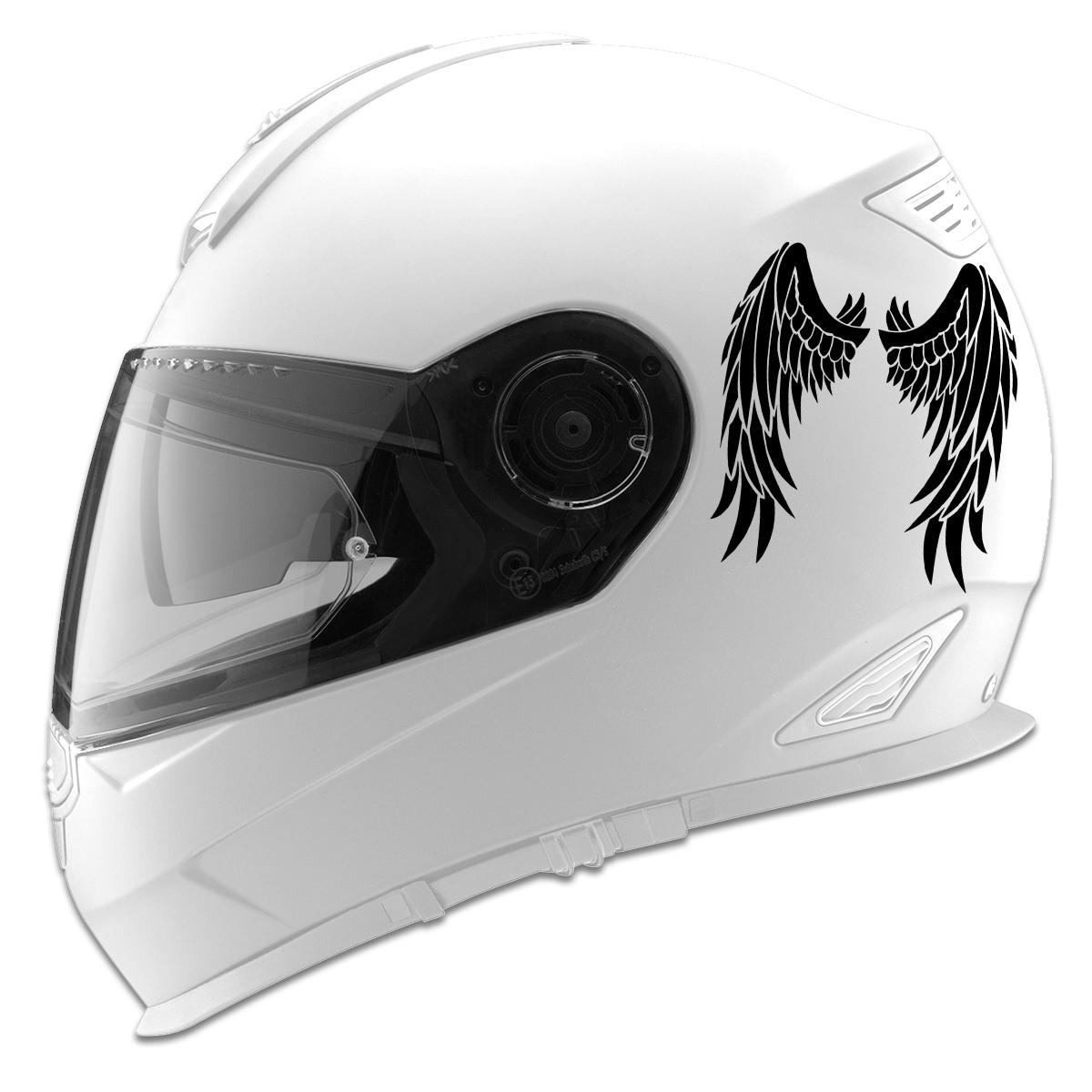 Angel Wings Design Auto Car Racing Motorcycle Helmet Decal