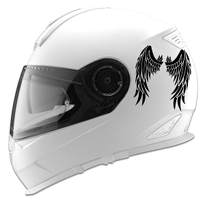 Angel Wings Design Auto Car Racing Motorcycle Helmet Decal