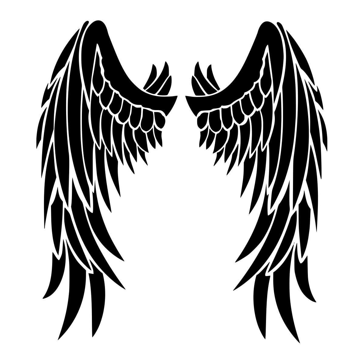 Gambar Angel Heart: Angel Wings Design Auto Car Racing Motorcycle Helmet Decal