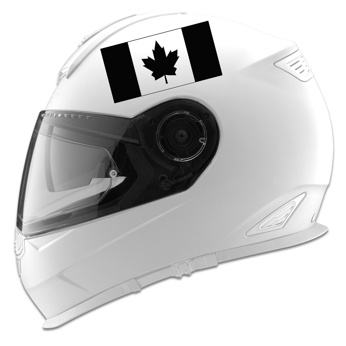 Canadian Flag Auto Car Racing Motorcycle Helmet Decal - Pink motorcycle helmet decals