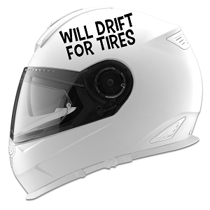 Will Drift For Tires Auto Car Racing Motorcycle Helmet Decal
