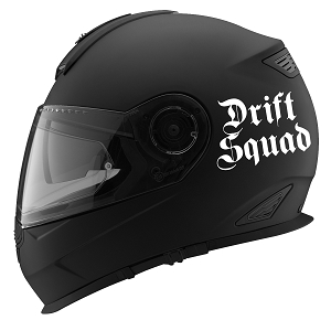 Drift Squad Auto Car Racing Motorcycle Helmet Decal