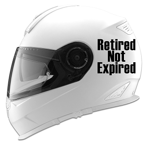 Retired Not Expired Auto Car Racing Motorcycle Helmet Decal