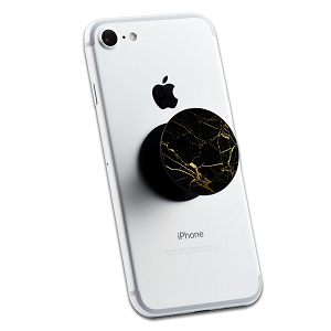Black Gold Marble 2 Stickers Set for Pop Grip Stent for Phones and Tablets (Stickers Only)