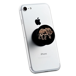 Black and Pink Glitter Elephant 2 Sticker Set for Pop Grip Stent for Phones and Tablets (Stickers Only)