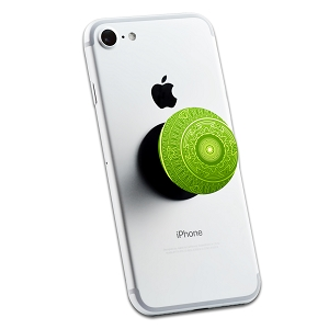 Green Mandala 2 Sticker Set for Pop Grip Stent for Phones and Tablets (Stickers Only)