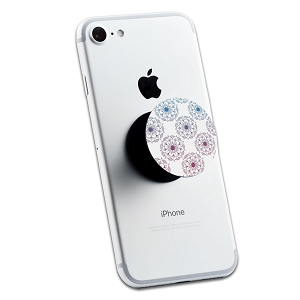 White Floral Mandala 2 Sticker Set for Pop Grip Stent for Phones and Tablets (Stickers Only)