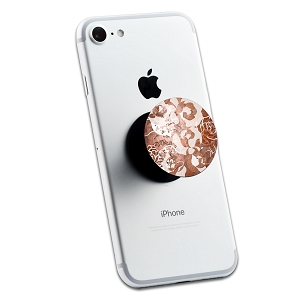 Copper Floral Print 2 Sticker Set for Pop Grip Stent for Phones and Tablets (Stickers Only)
