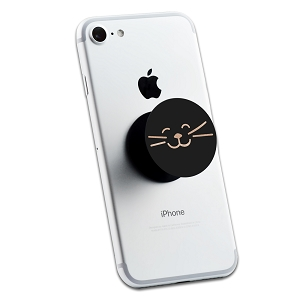 Kitty Cat Face 2 Sticker Set for Pop Grip Stent for Phones and Tablets (Stickers Only)