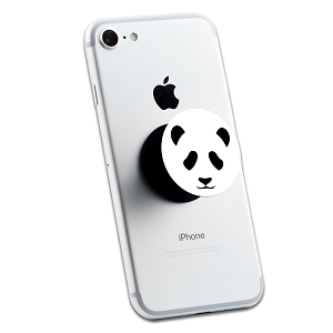 Panda Bear Face 2 Sticker Set for Pop Grip Stent for Phones and Tablets (Stickers Only)