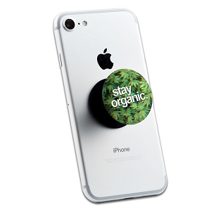 Stay Organic Pot Leaves 2 Sticker Set for Pop Grip Stent for Phones and Tablets (Stickers Only)