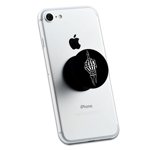 Skeleton Middle Finger 2 Sticker Set for Pop Grip Stent for Phones and Tablets (Stickers Only)
