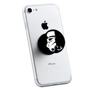 Storm Trooper Helmet Shadow 2 Sticker Set for Pop Grip Stent for Phones and Tablets (Stickers Only)