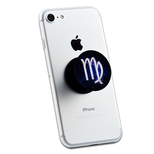 Virgo Galaxy Zodiac Symbol 2 Sticker Set for Pop Grip Stent for Phones and Tablets (Stickers Only)